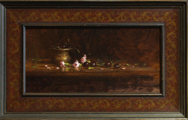 Jonathan hardesty carnations cherries framed websize