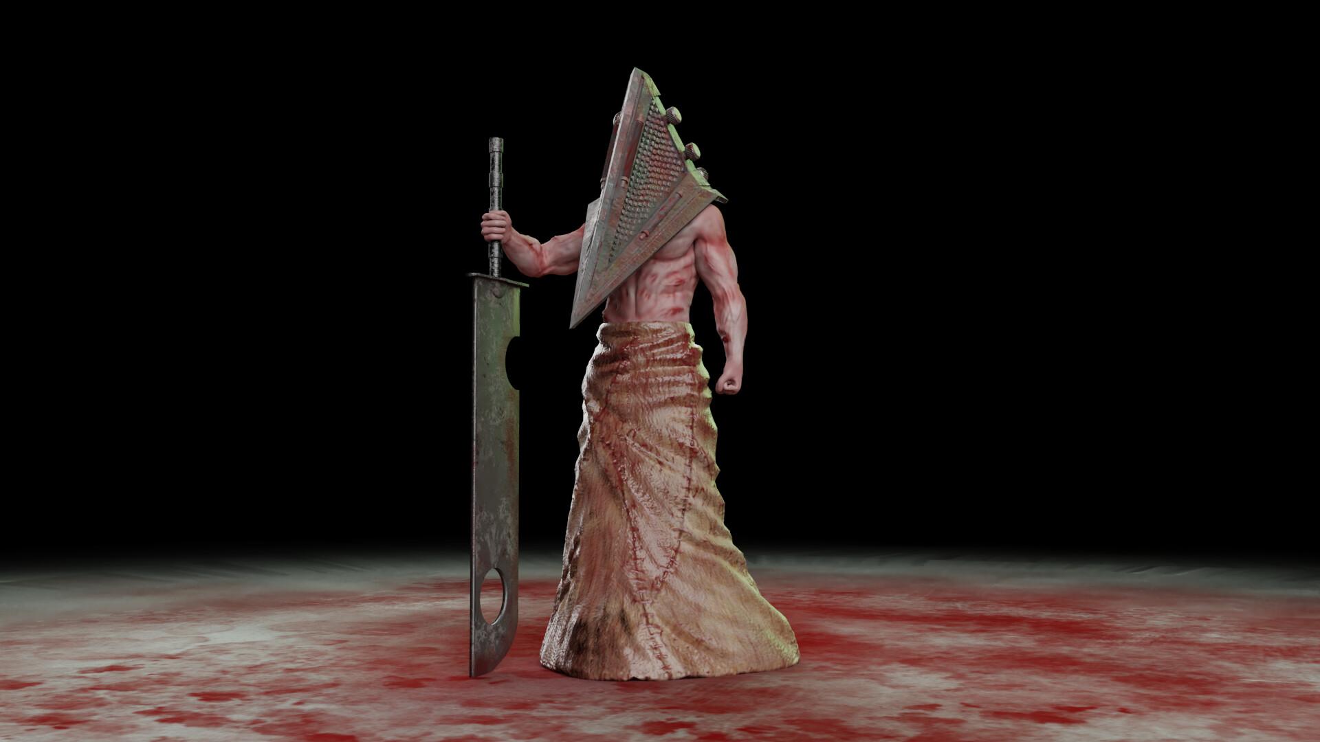Artstation Pyramid Head Silent Hill Arya Nurhuda