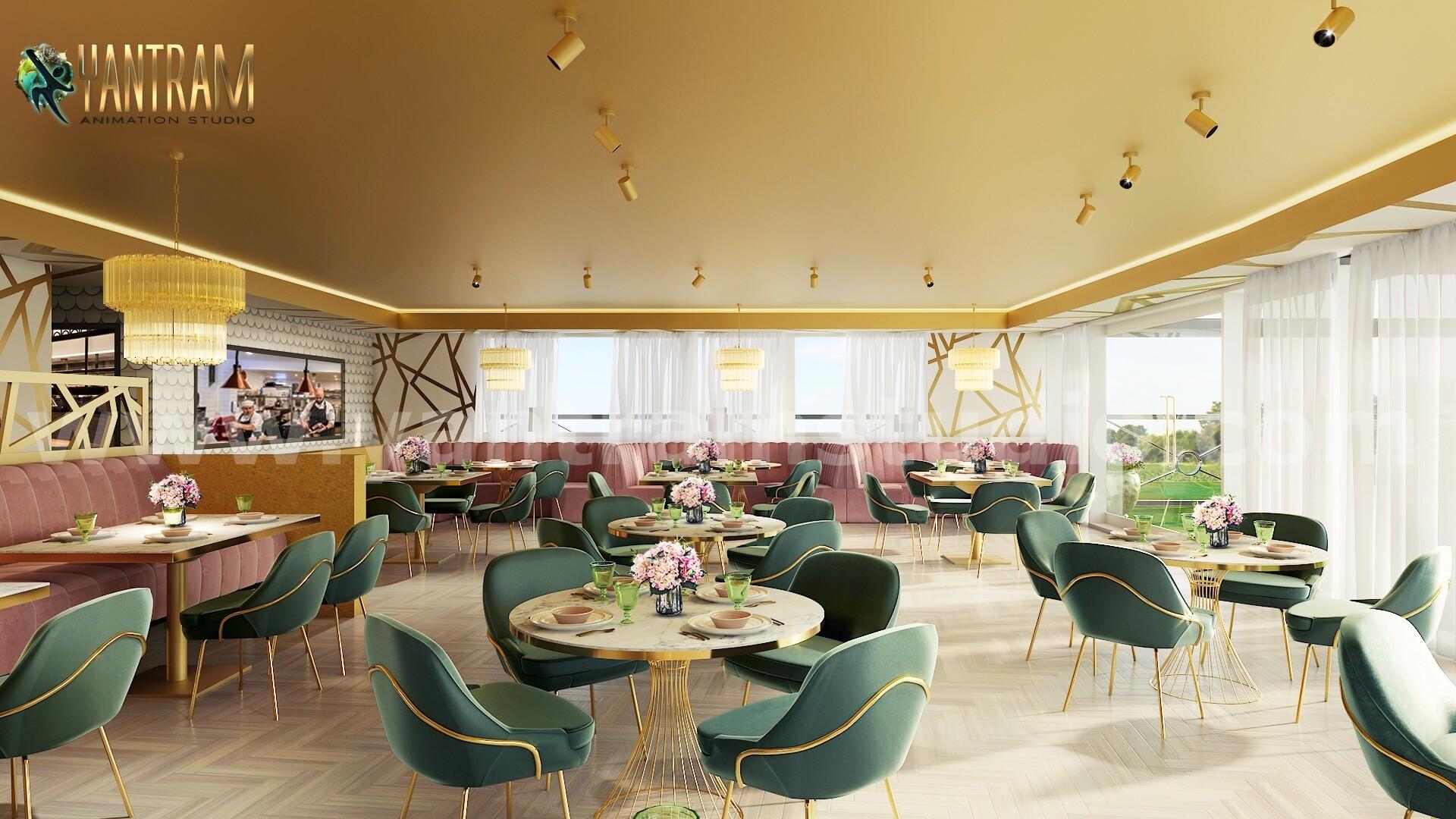 ArtStation - Magnificent Modern Restaurant 3D Interior ...