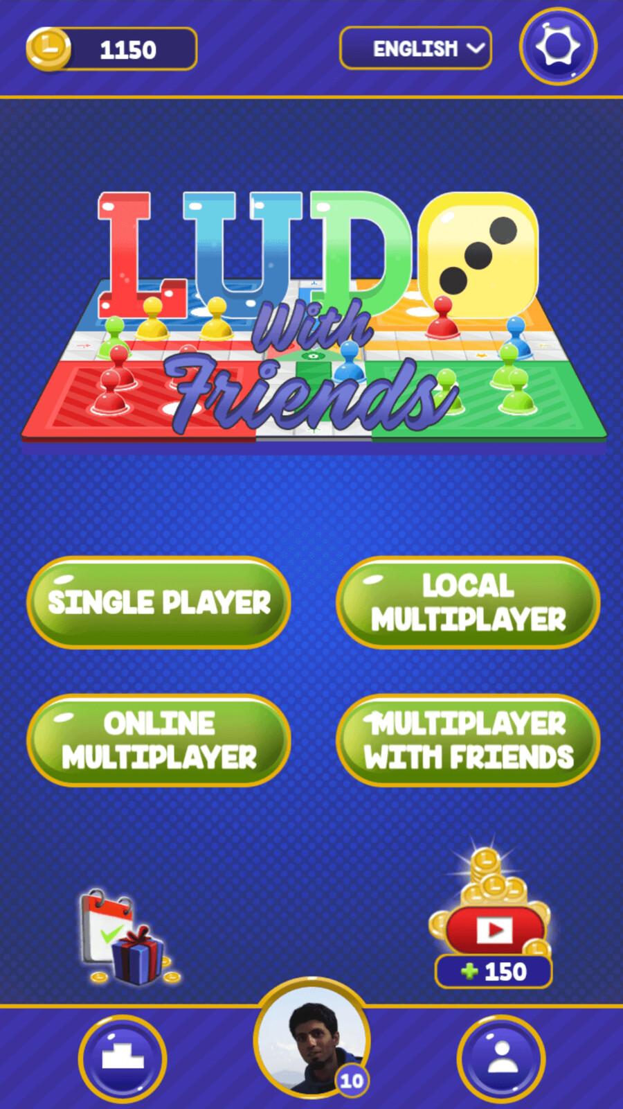 Main menu screen mockup