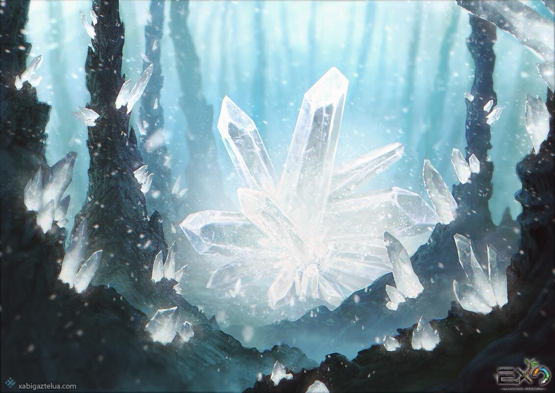 Xabi gaztelua crystal stone forest white low