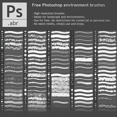 FREE Photoshop environment brushes
