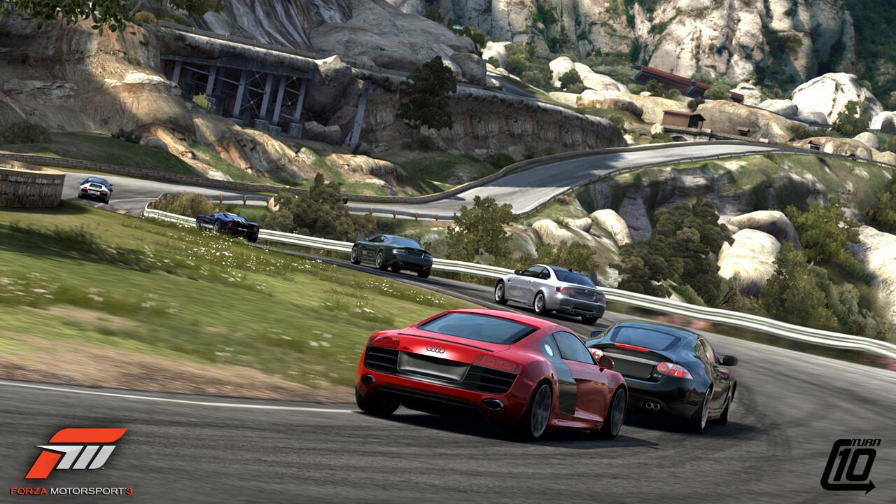 Promotional Screenshot of the Camino Viejo de Montserrat track