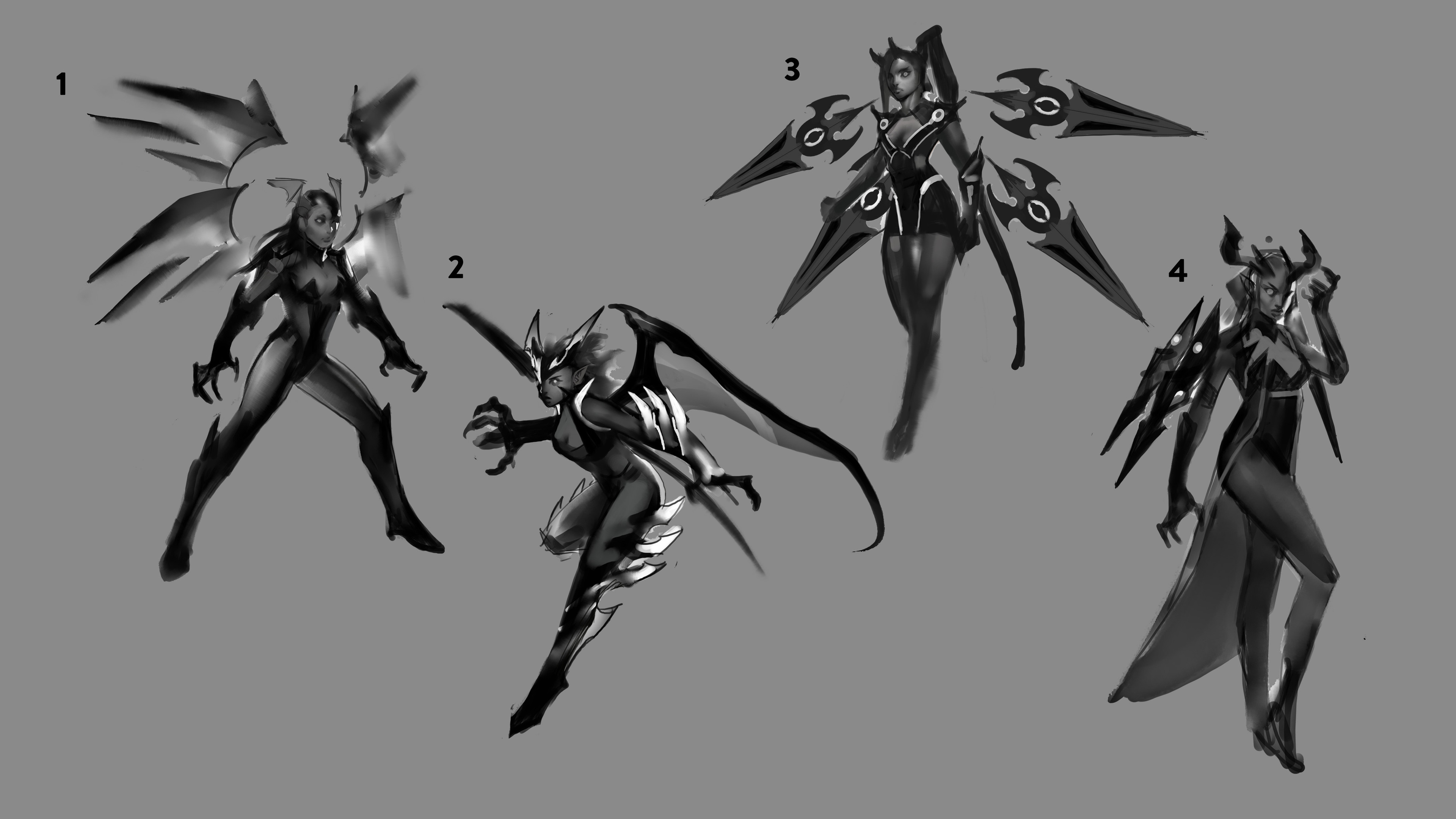 Some rough early sketches
