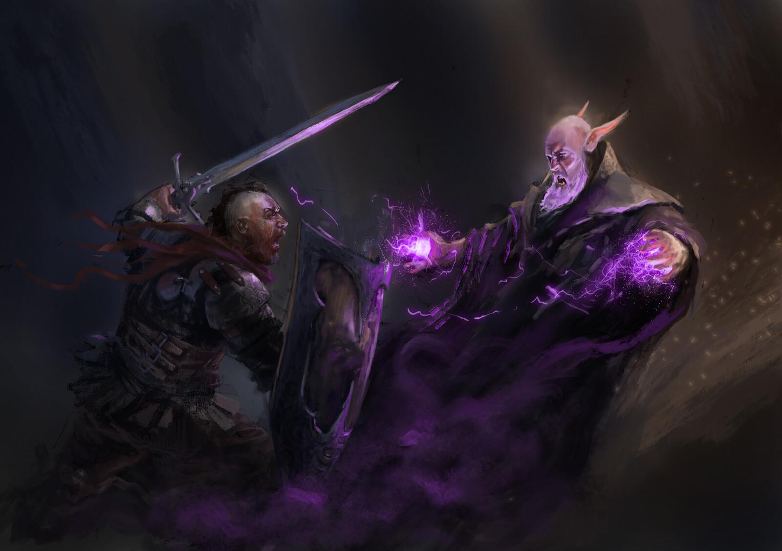 Knight VS wizard