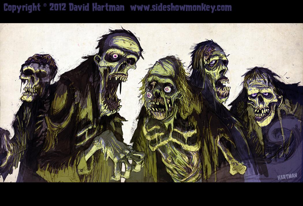 David hartman zombies by hartman by sideshowmonkey d54kzdw