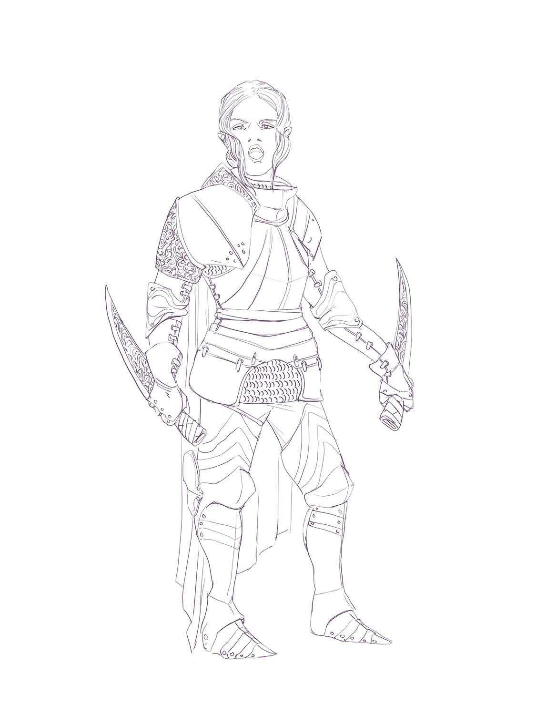 Female Knight sketch