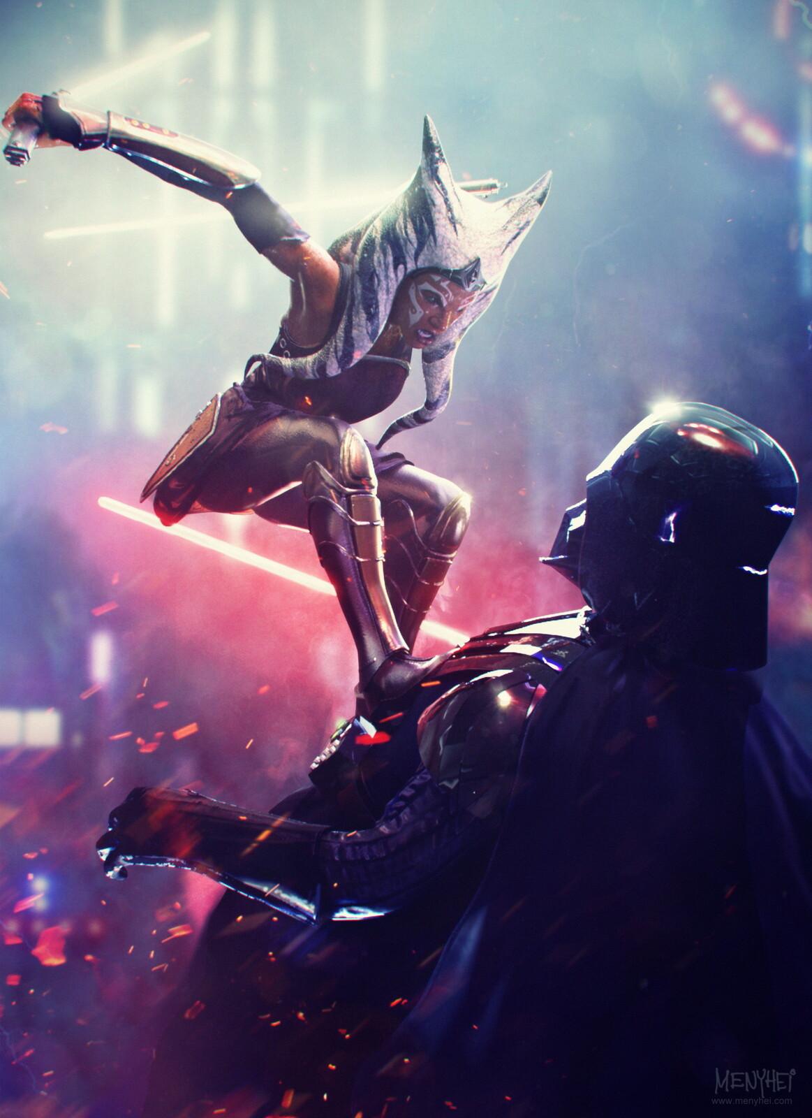Ahsoka Tano vs Vader