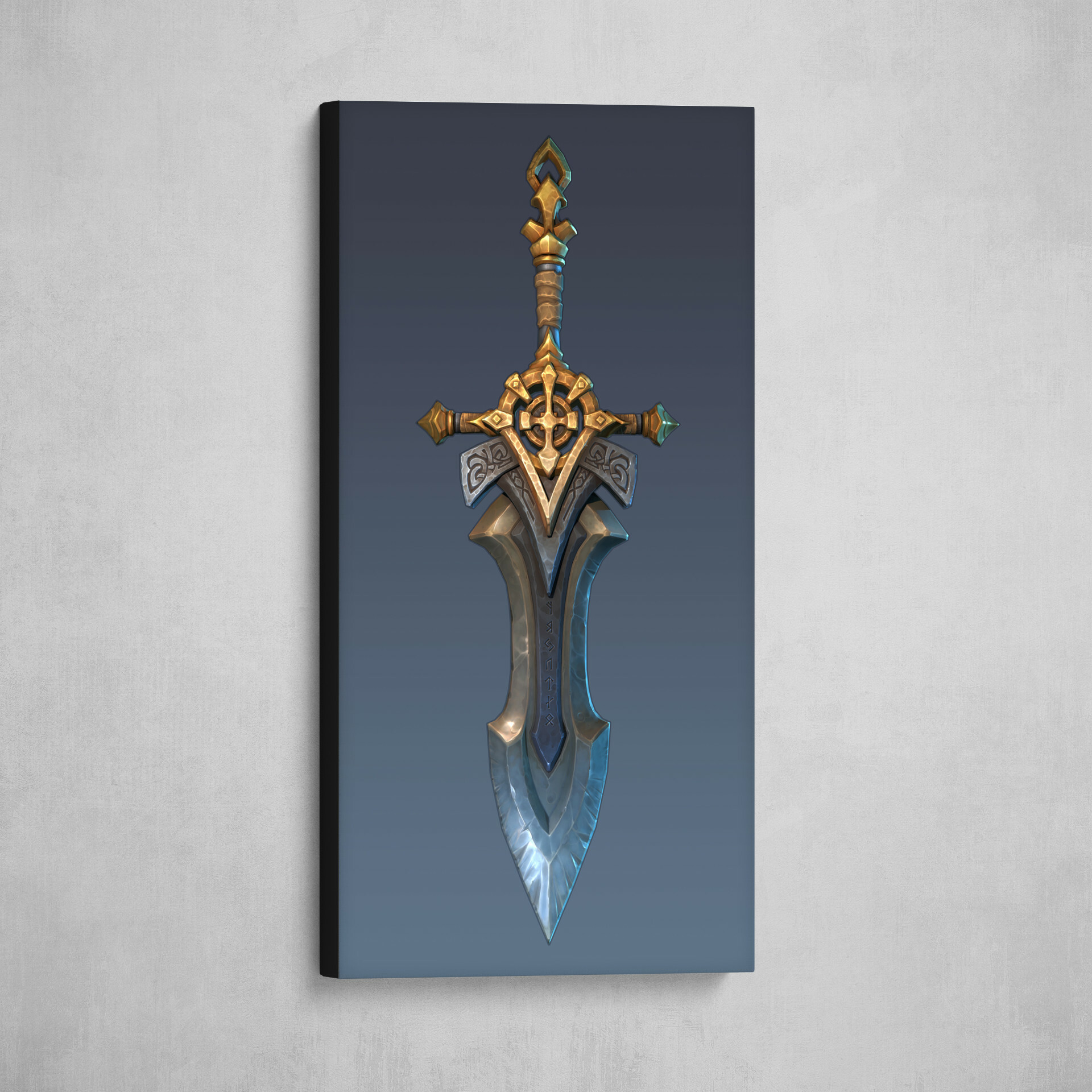 You can now buy an art print of a sword here : https://www.artstation.com/prints/art_print/8Kb0/the-legend-of-king-arthur-artstation-challenge-excalibur