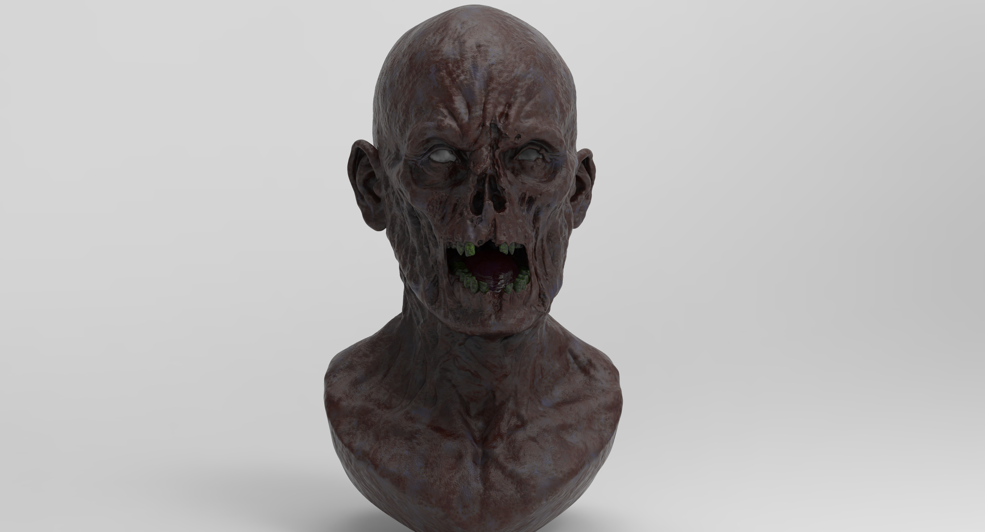 3D render of the female ghost.