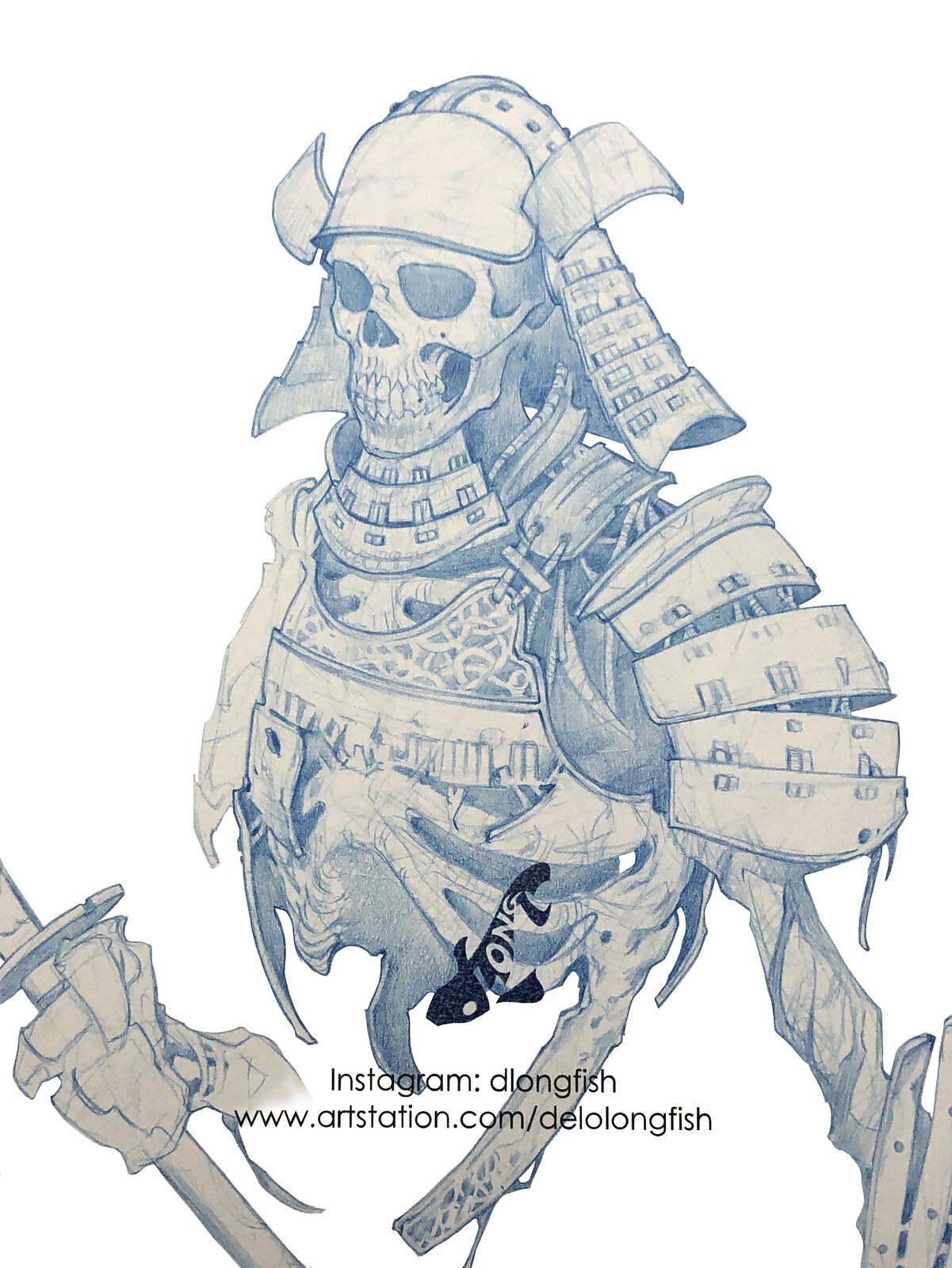 Undead Samurai Sketch