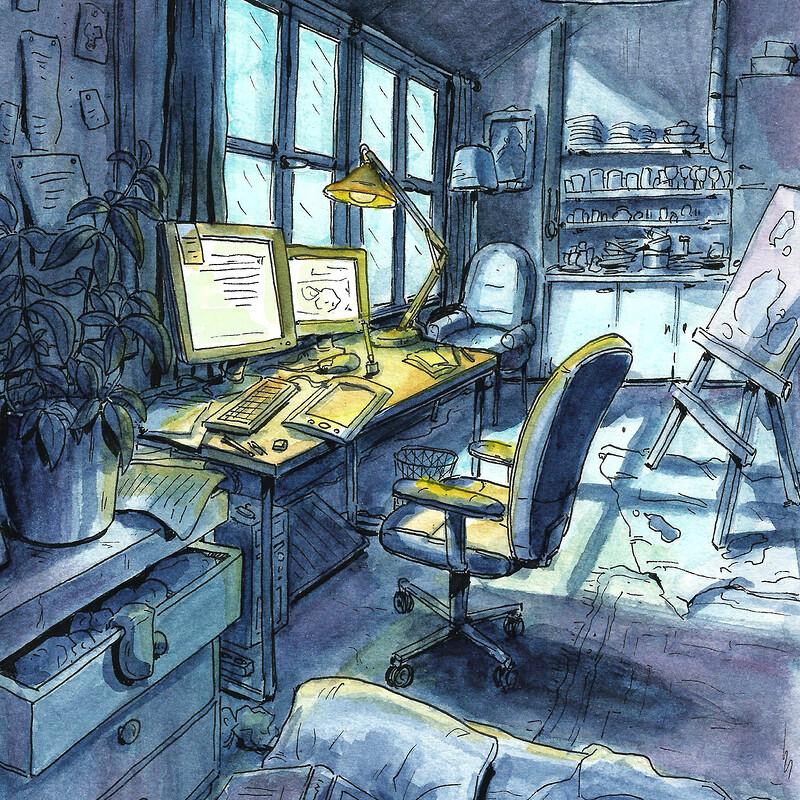 Interior watercolours
