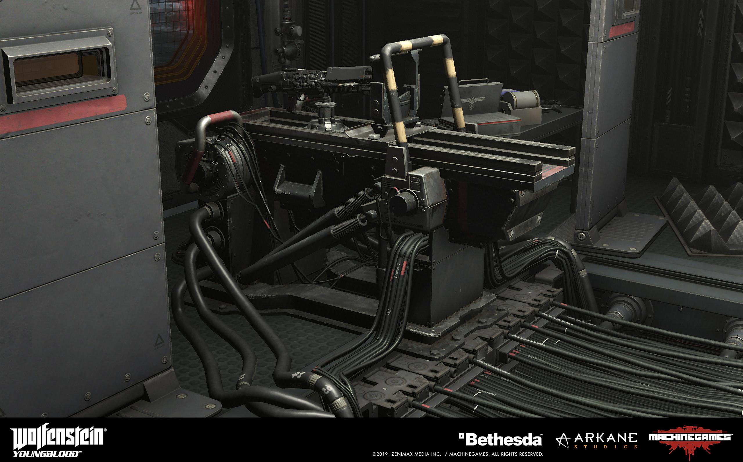 Electrogewhr test bench