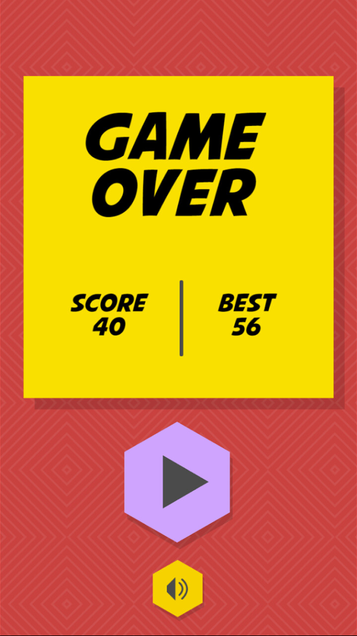 Simple game over screen mockup