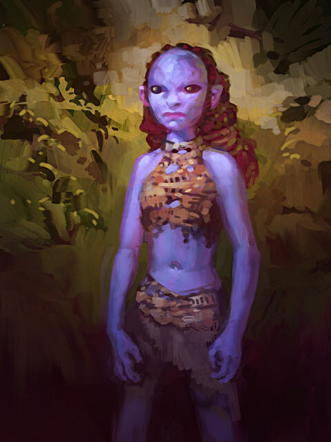 Concept of the alien girl.
