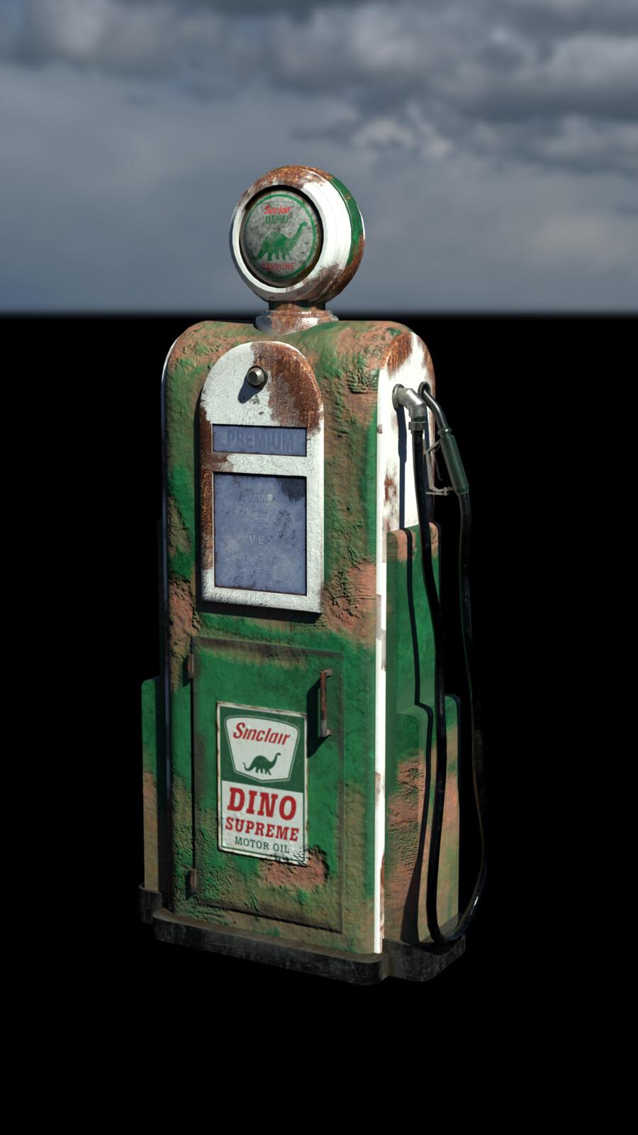 Worn 1950s Sinclair Gas Pump