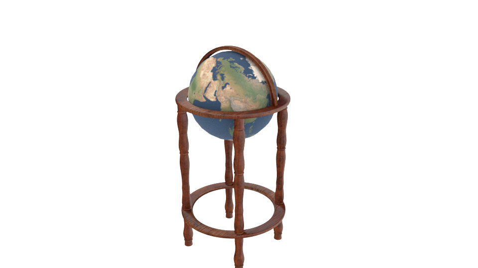 Fully rendered Globe