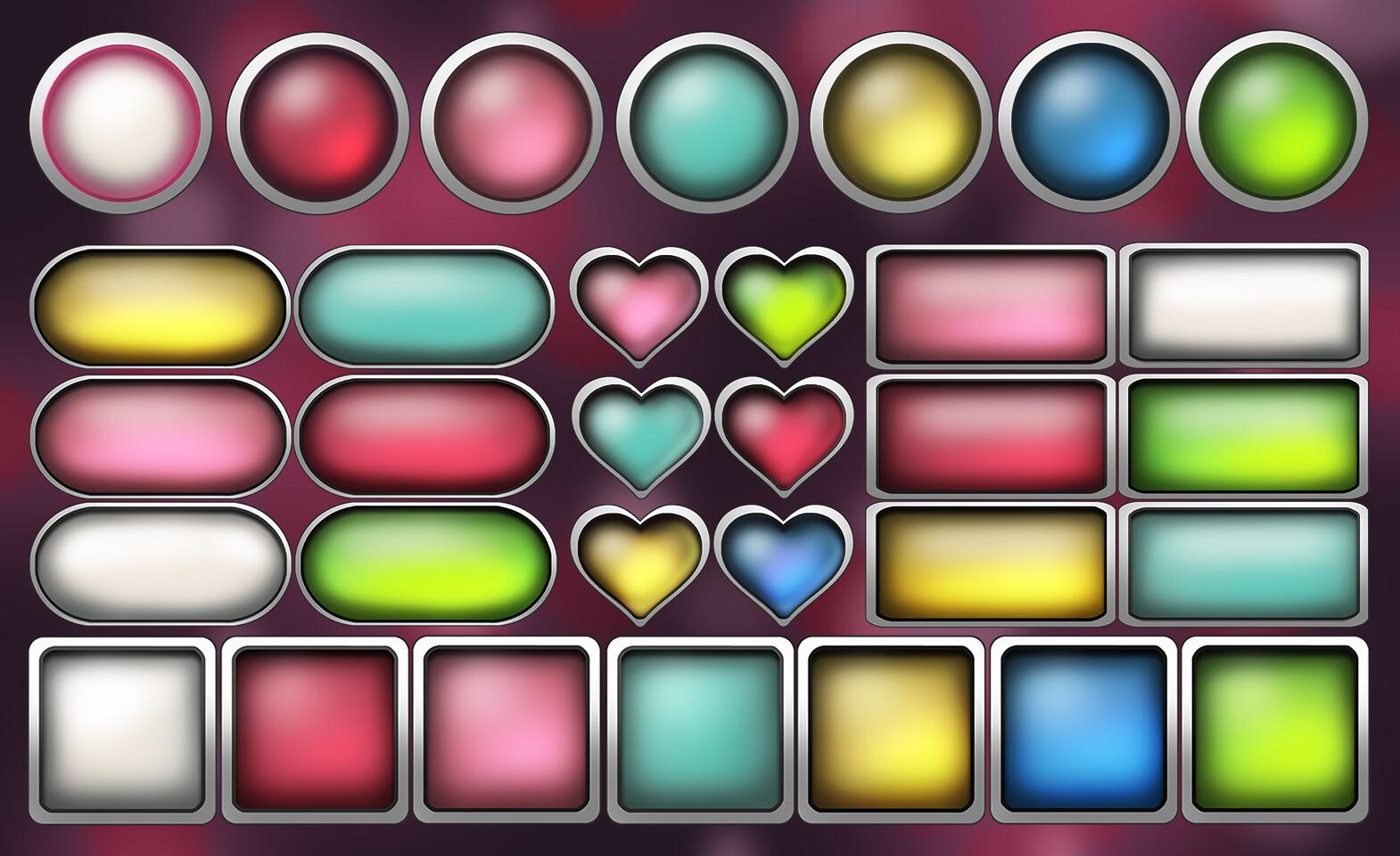 Button frames