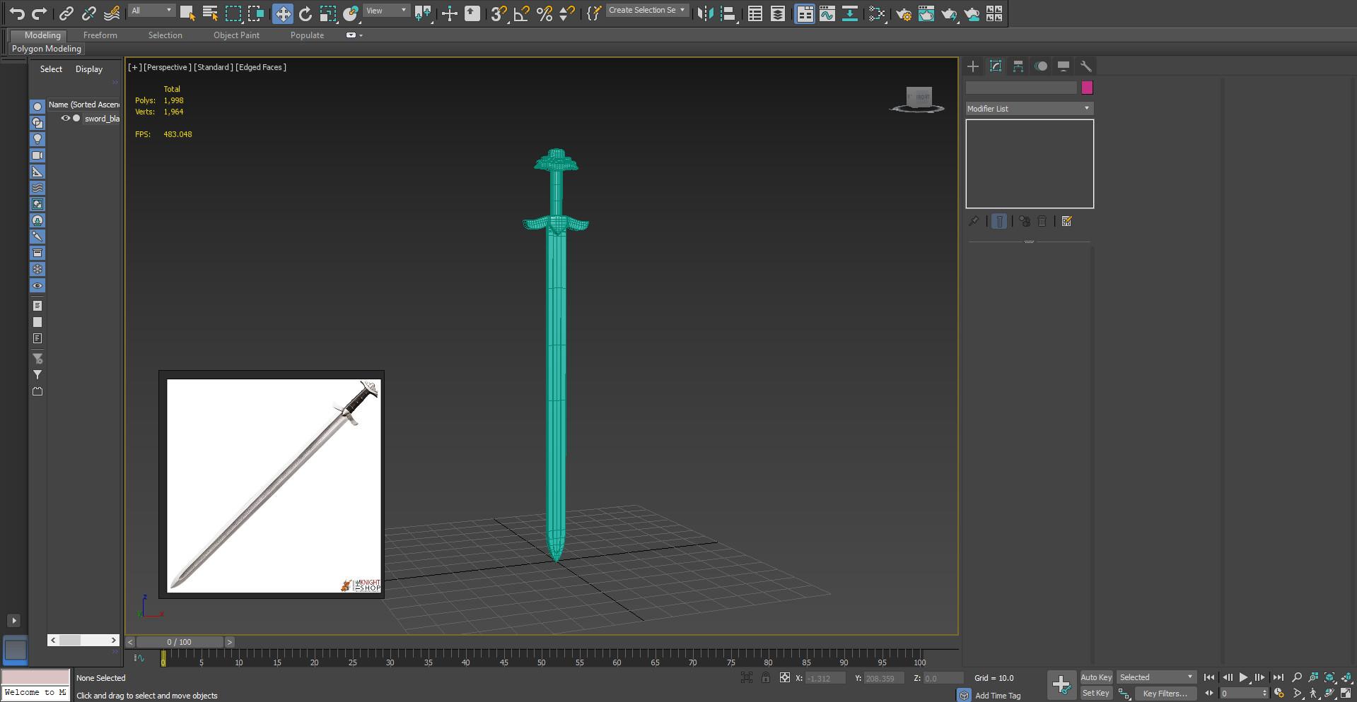 James skinner 3dsmax sword1