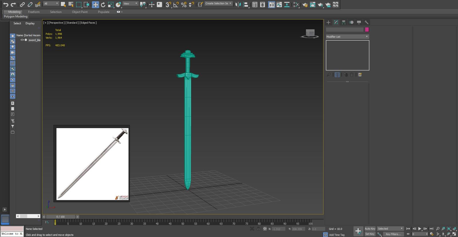 Viking Sword 3dsMax WIP Screenshot