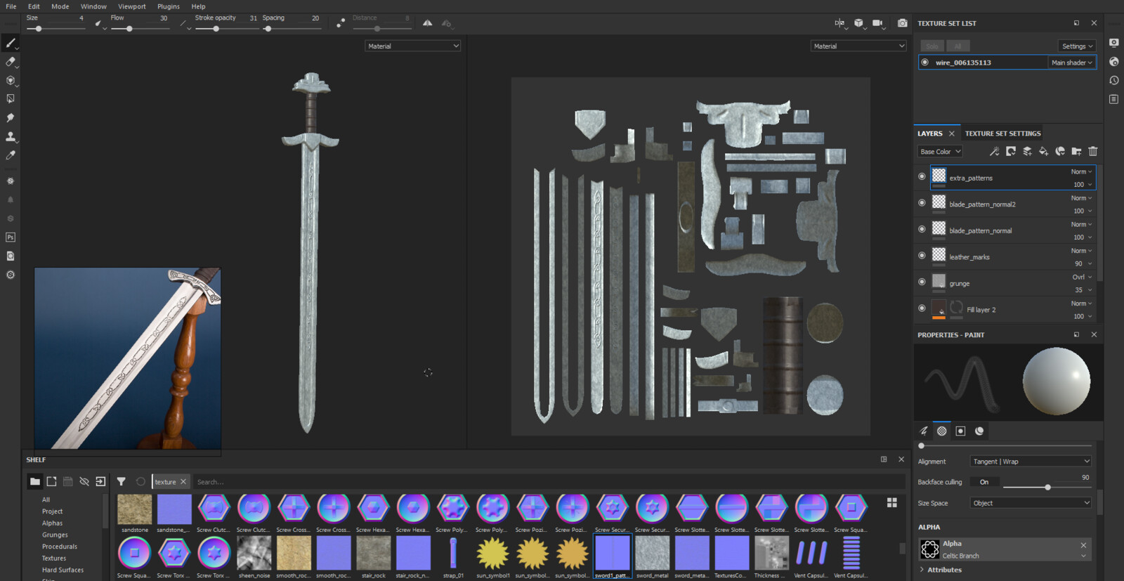 Viking Sword Zbrush WIP Screenshot 2