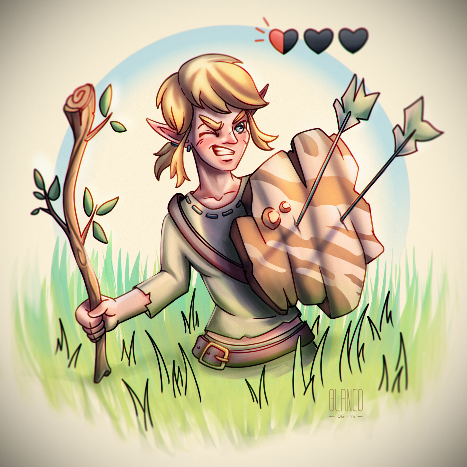 Link at the Great Plateau!