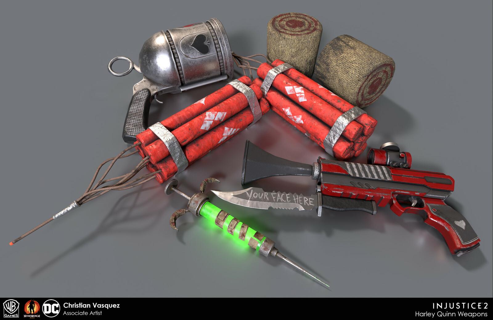 Harley Quinn's arsenal