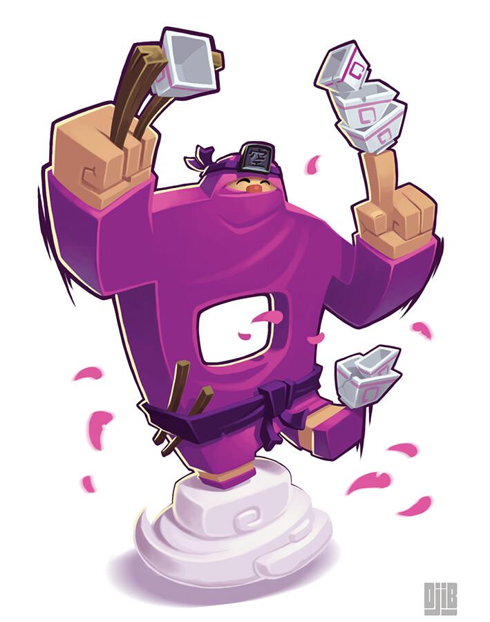 Jean baptiste djib reynaud ninja academy ninja violet