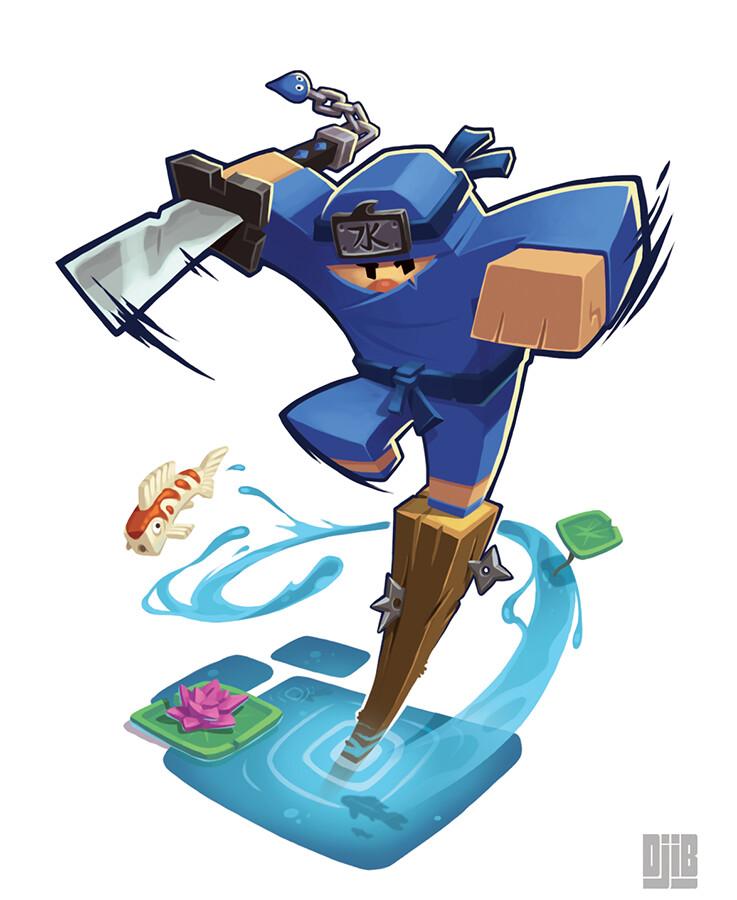 Jean baptiste djib reynaud ninja academy ninja bleu