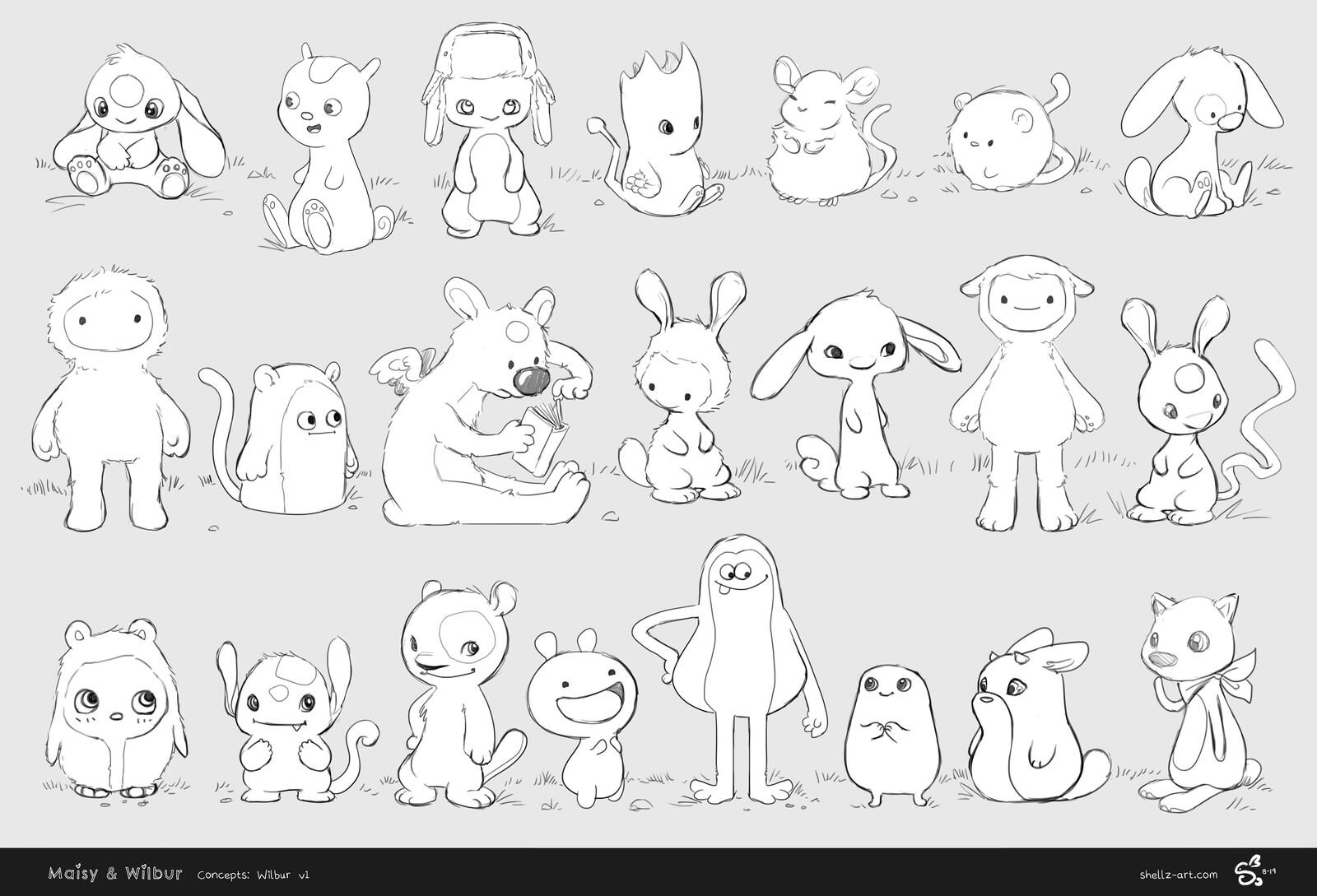 Maisy & Wilbur Concepts - Wilbur v1
