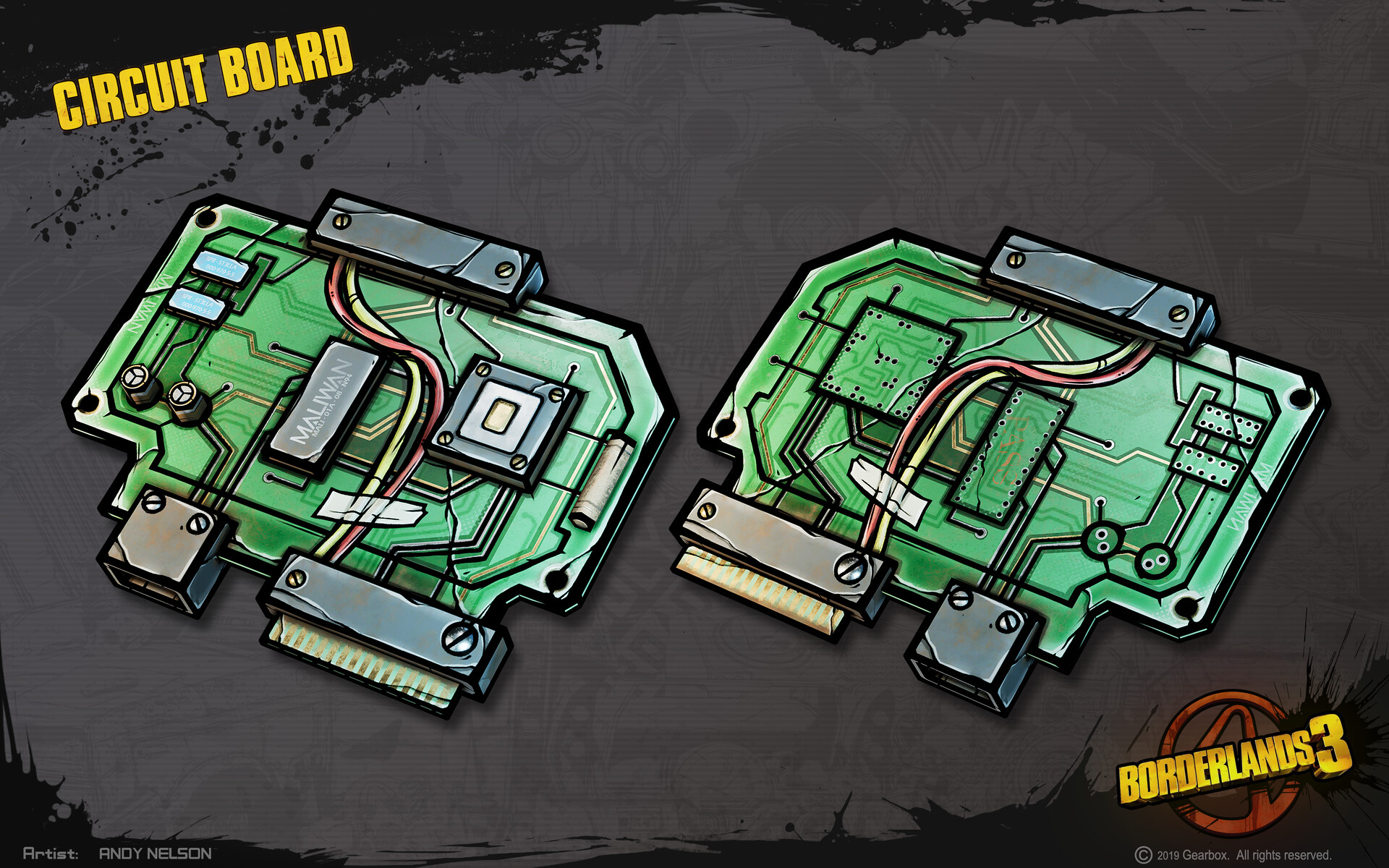 Andy nelson props circuit board 01