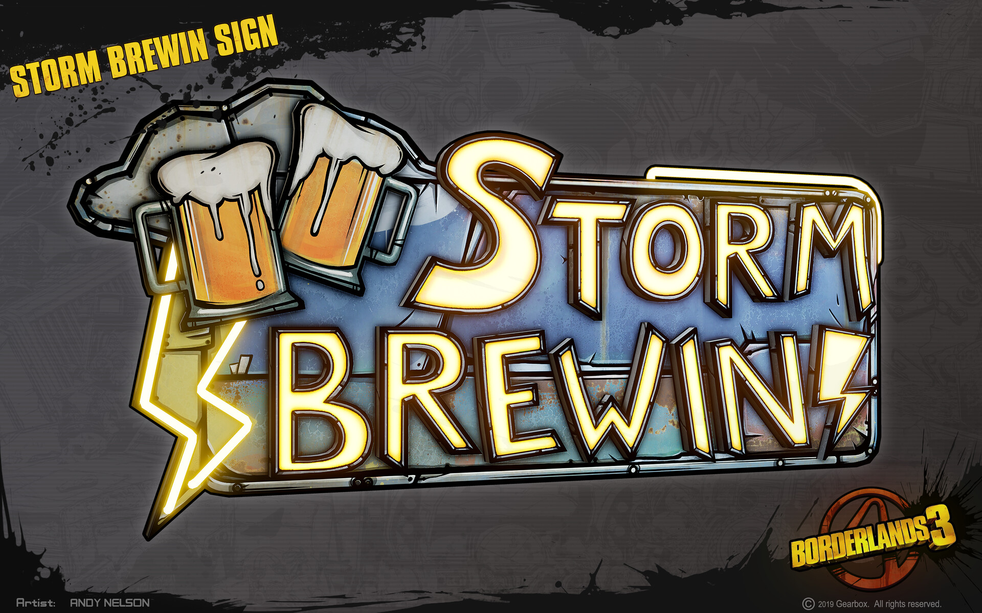Andy nelson props storm brewin sign 01