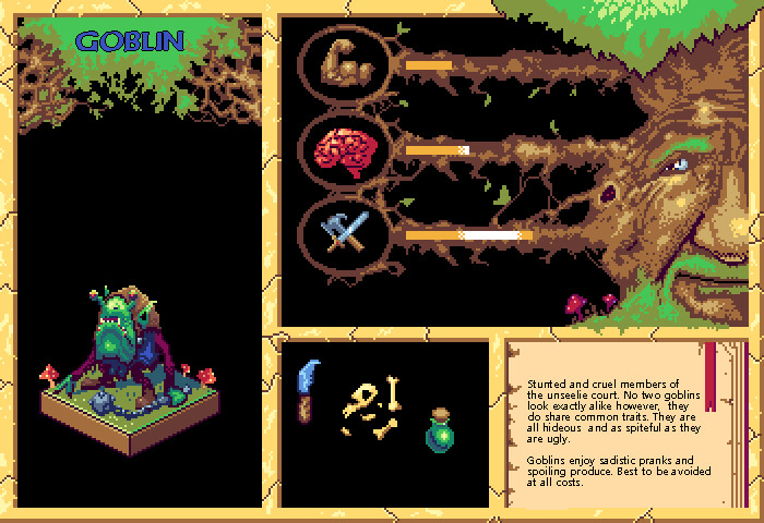 Goblin Pixel Bestiary Entry