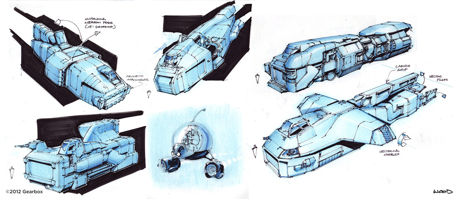Thumbnails of a colonial marine deep-space boarding ship
