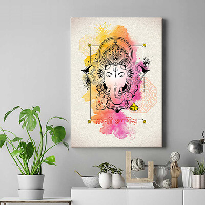 Rajesh r sawant frameless canvas poster ganpati 2019 poster