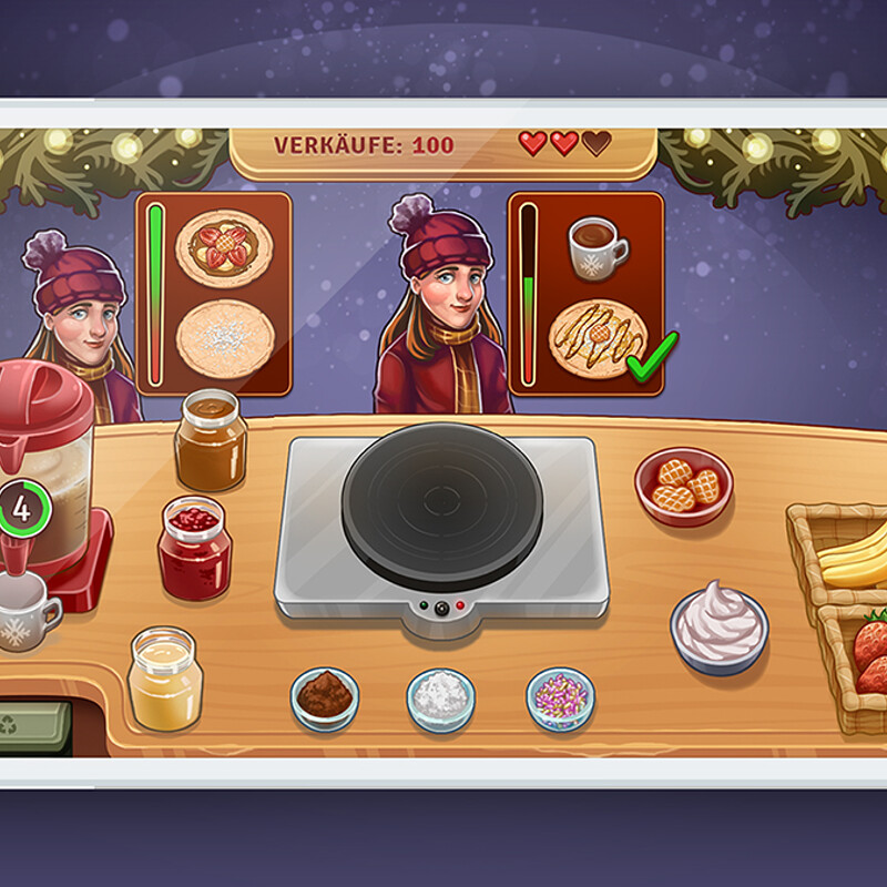 Christmas Crepes – Game Art