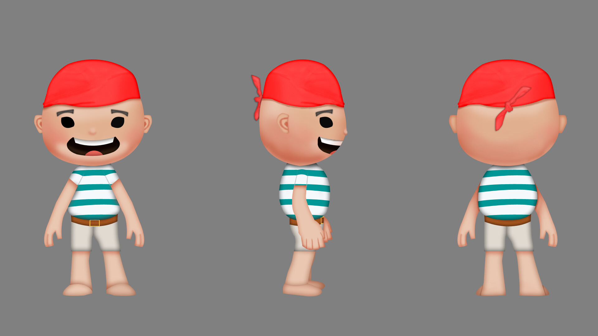 Francis Cholo Carpio Casual Pirate Game Character Concept