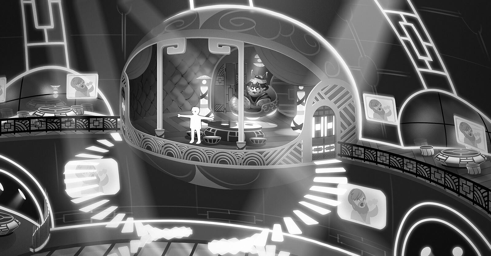 Early concept for Glinara's den.