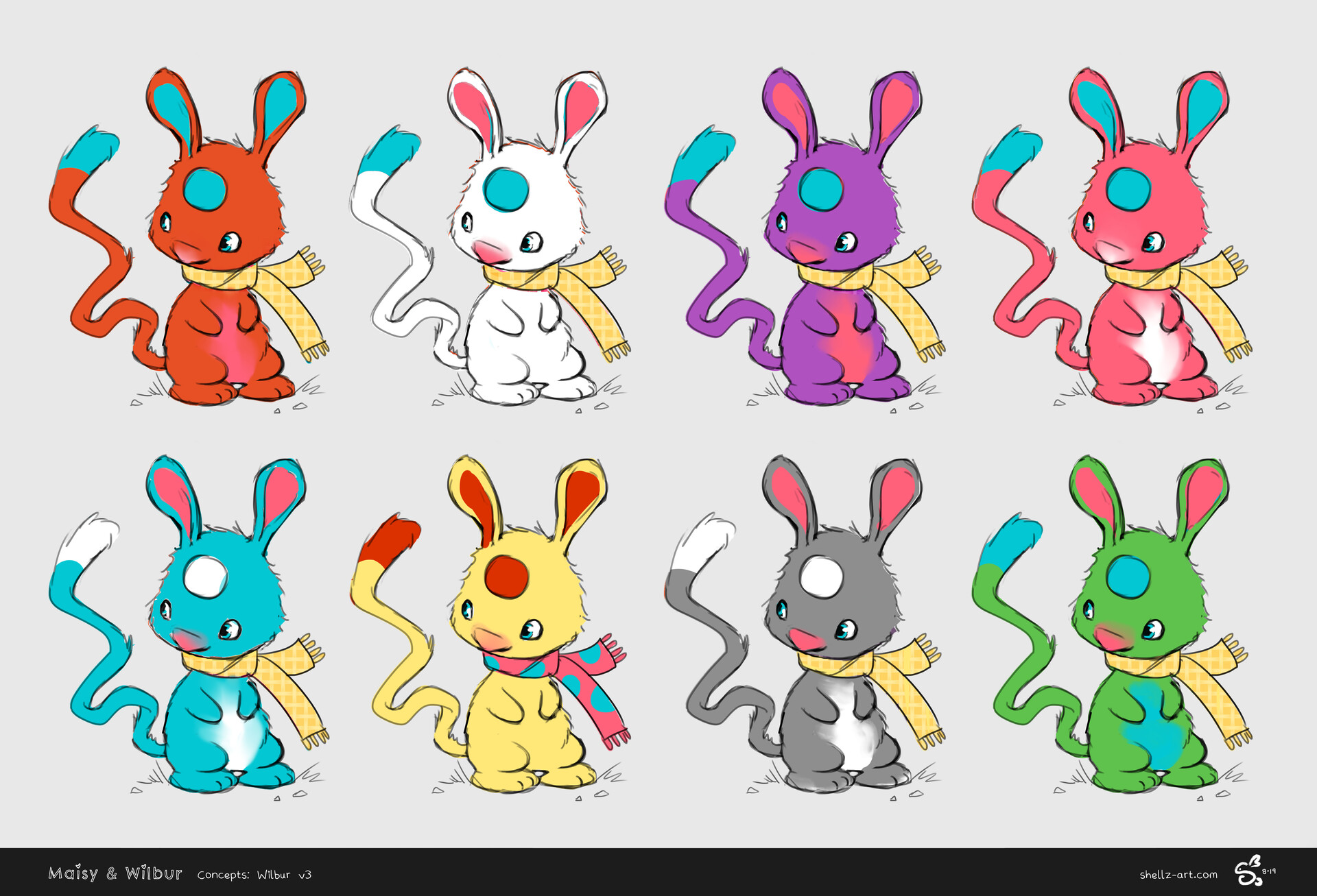 Colour concepts for Wilbur