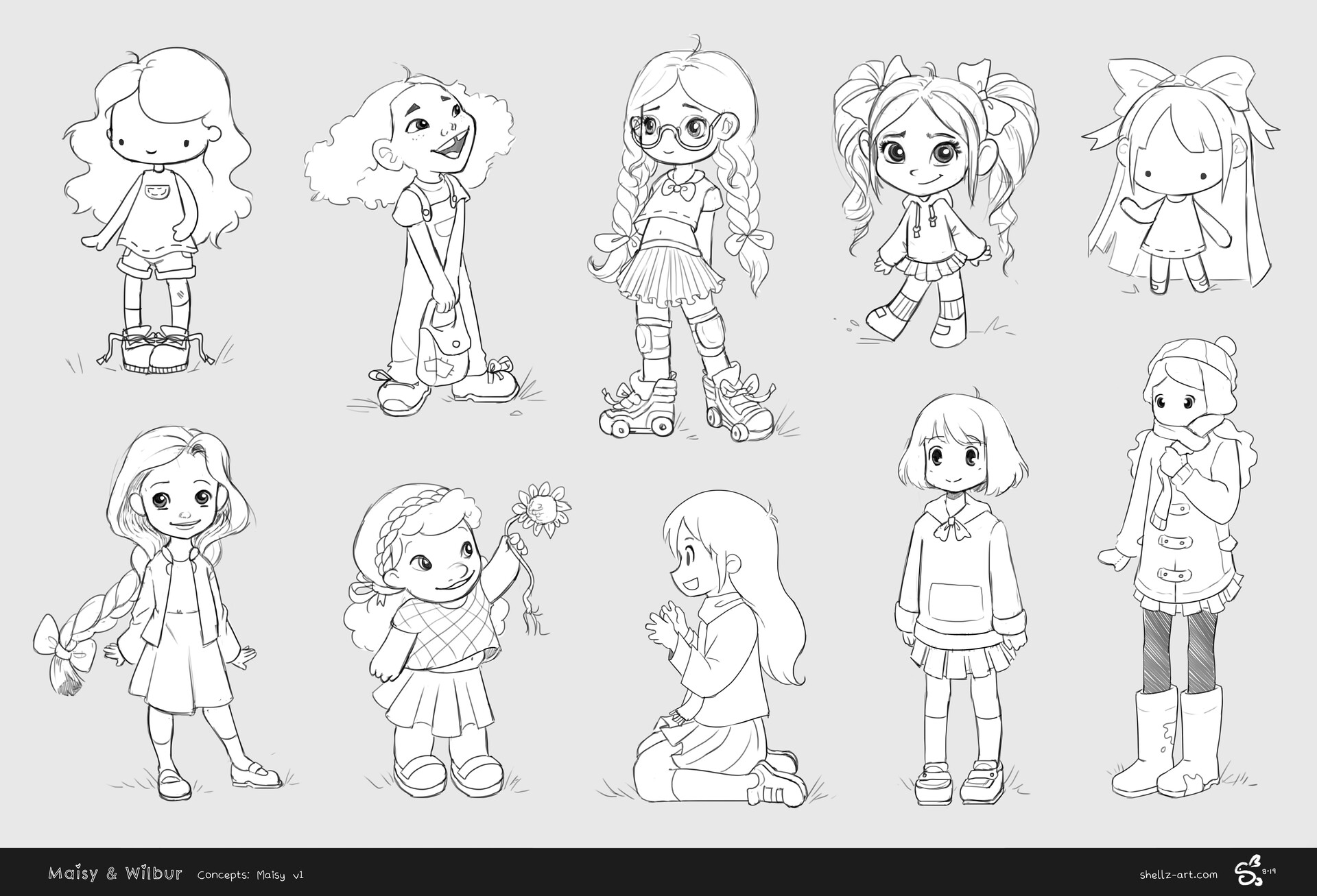 Initial concepts for Maisy