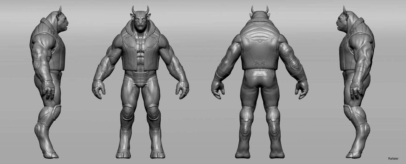 Rafael teruel minotaur creatuanary rafater character clothing