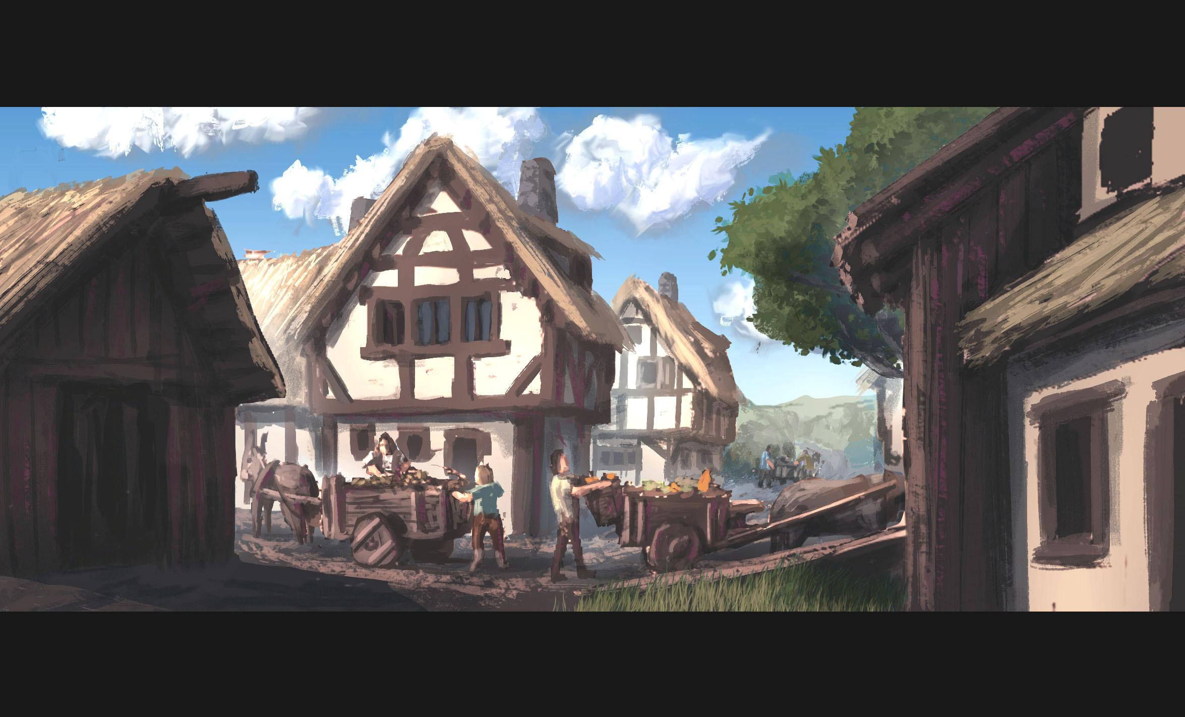 Farm Village 01 // Technique / Painting / Environment 01 (90-120 min)