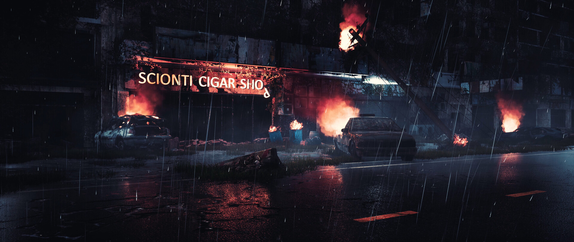ArtStation - My Resident Evil horror environment render with