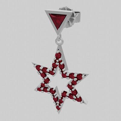 Berserk design arete estrella con diamante