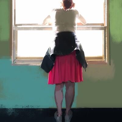 Guenter zimmermann d by the window