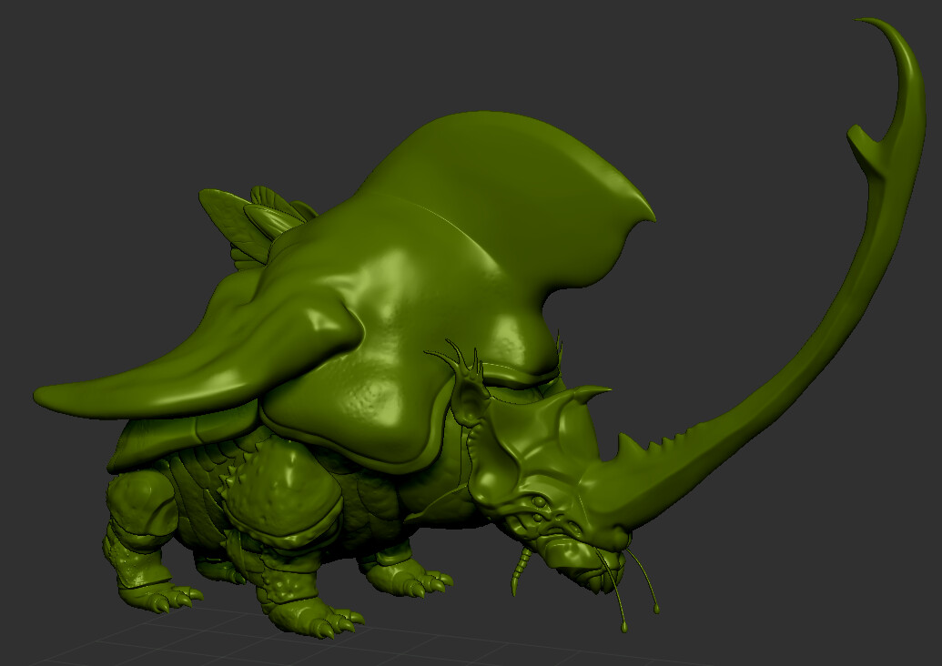 the full sculpt is finished