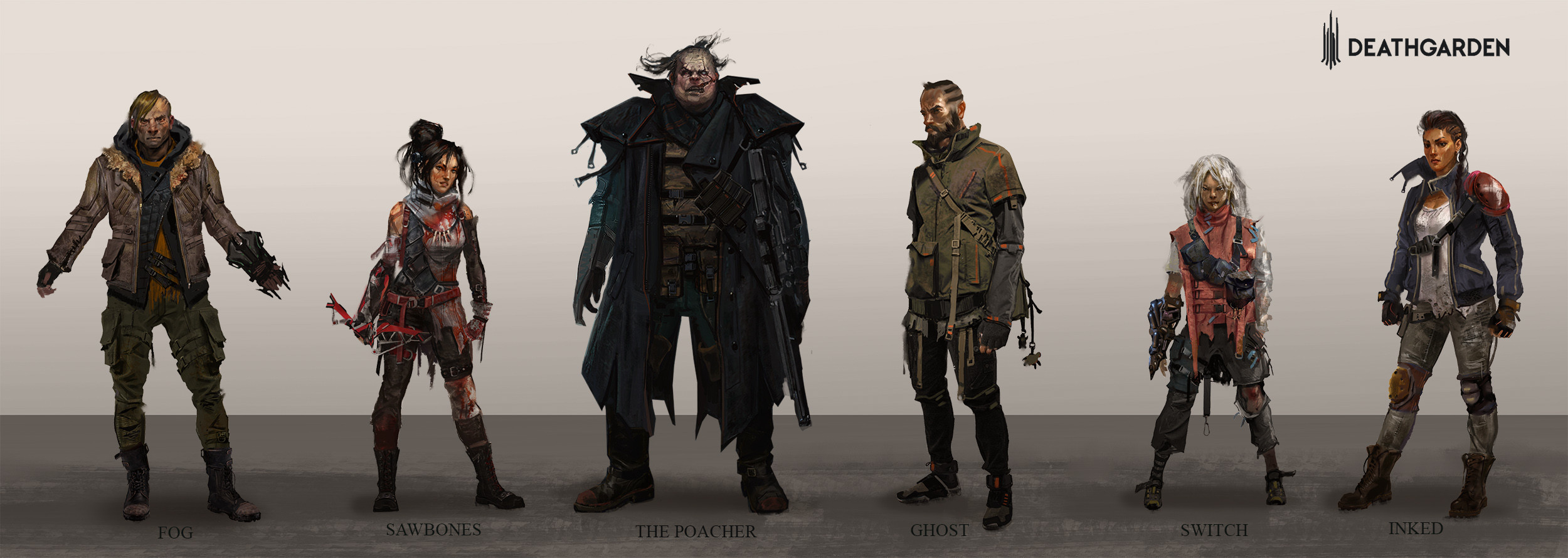 DeathGarden character concepts