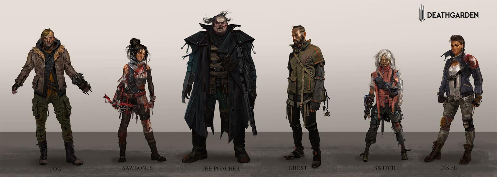 DeathGarden character concepts