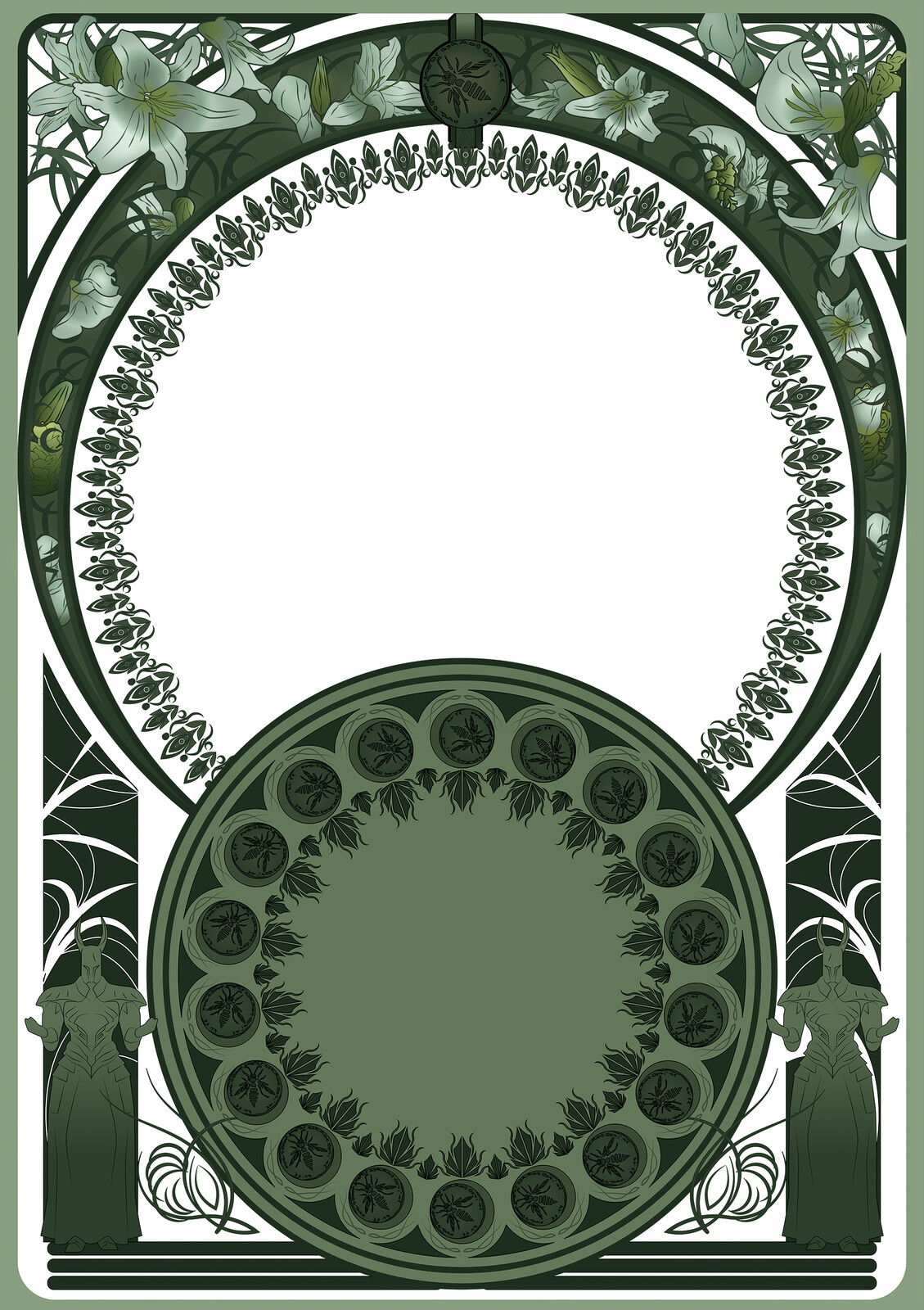 Frame and Architecture made with Illustrator