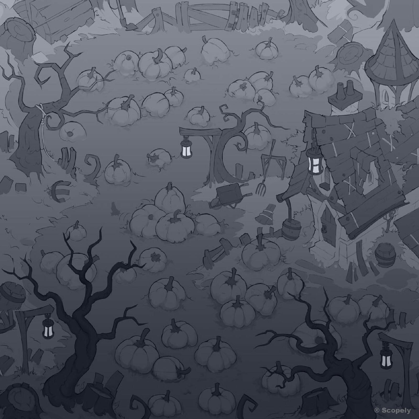 Pumpkinpatch Maze Background